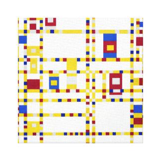 Piet Mondrian Broadway Boogie Woogie Canvas Print