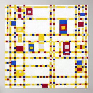 Piet Mondrian Broadway Boogie Woogie Poster