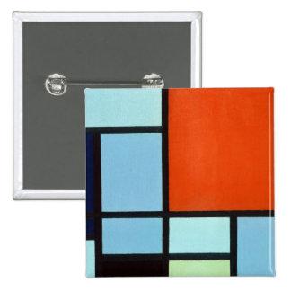 Piet Mondrian Composition 2 Inch Square Button