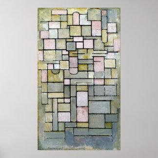 Piet Mondrian Composition 8 Poster