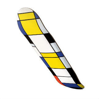 Piet Mondrian Composition A - Abstract Modern Art Custom Skateboard