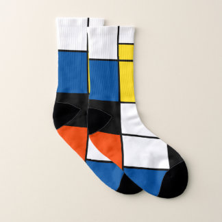 Piet Mondrian Composition A - Abstract Modern Art Socks