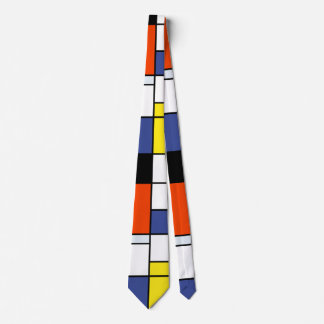 Piet Mondrian Composition A - Abstract Modern Art Tie