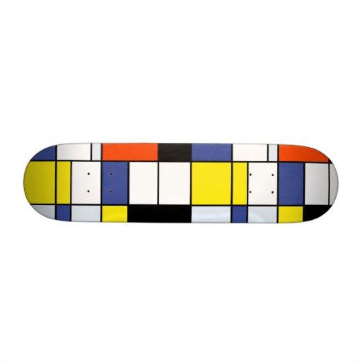 Piet Mondrian Composition A Skateboards