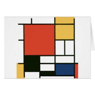 Piet Mondrian - Composition Card