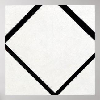 Piet Mondrian Composition No. 1 Lozenge with Four Poster