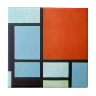 Piet Mondrian Composition Tile