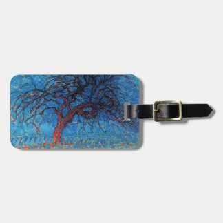 Piet Mondrian, Evening: Red Tree Luggage Tag