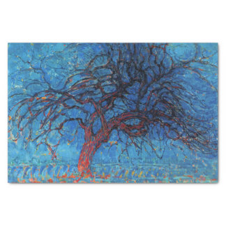 Piet Mondrian Evening: Red Tree Tissue Paper