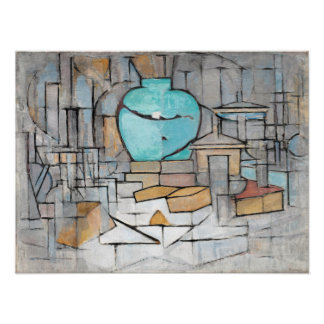 Piet Mondrian Still Life with Gingerpot II Poster