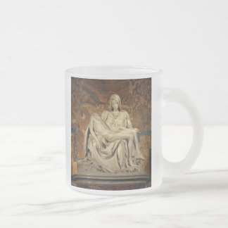 Pieta by Michelangelo Frosted Glass Coffee Mug