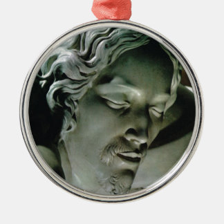 Pieta, by Michelangelo, St Peter's, Vatican Silver-Colored Round Ornament