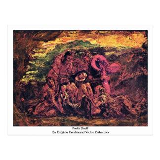 Pietà Draft By Eugène Ferdinand Victor Delacroix Postcard