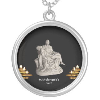 Pietà image for Large-Silver-Plated-Round-Necklace Silver Plated Necklace