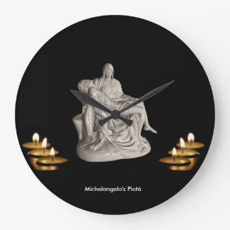 Pietà image for Round-Large-Wall-Clock Wall Clock