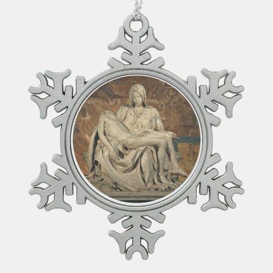 Pieta Pewter Ornament