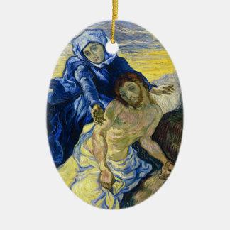 Pieta Vincent van Gogh fine art painting Ceramic Oval Ornament