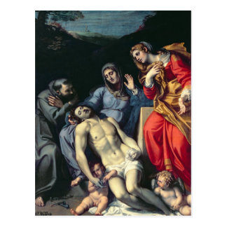 Pieta with St. Francis and St. Mary Magdalene, c.1 Postcard
