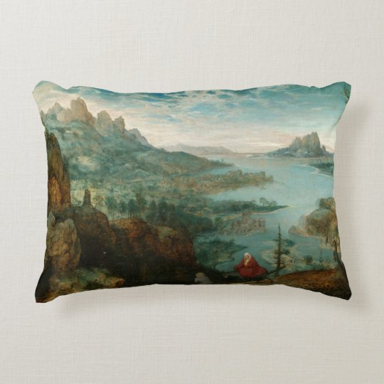 Pieter Bruegel - Landscape with flight into Egypt Accent Pillow