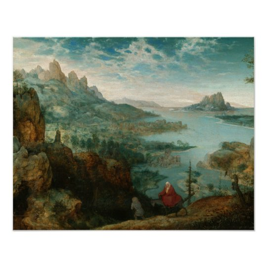Pieter Bruegel - Landscape with flight into Egypt Poster