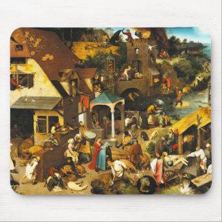 Pieter Bruegel Netherlandish Proverbs Mouse Pad