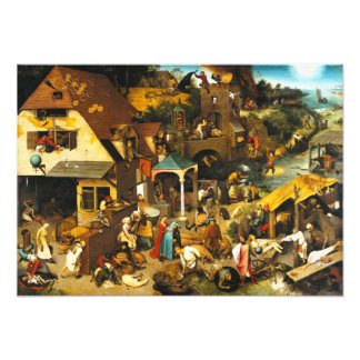 Pieter Bruegel Netherlandish Proverbs Photo Print