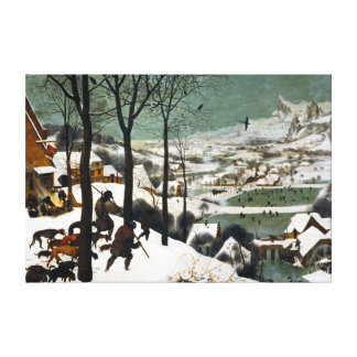 Pieter Bruegel the Elder Hunters in the Snow Canvas Print