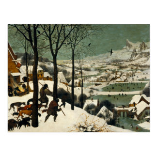 Pieter Bruegel the Elder - Hunters in the Snow Postcard