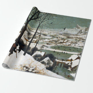 Pieter Bruegel the Elder Hunters in the Snow Wrapping Paper