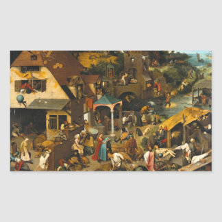 Pieter Bruegel the Elder - Netherlandish Proverbs Sticker