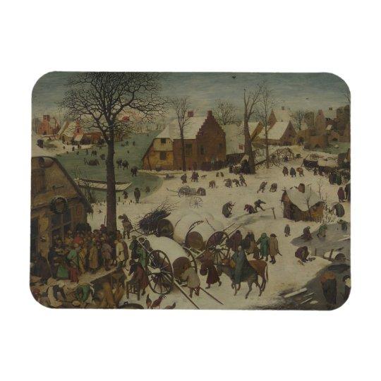 Pieter Bruegel the Elder -  Numbering at Bethlehem Rectangular Photo Magnet