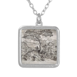Pieter Bruegel the Elder- Soldiers at Rest Silver Plated Necklace