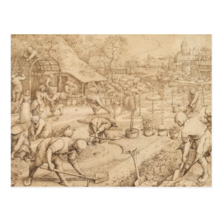 Pieter Bruegel the Elder - Spring Postcard