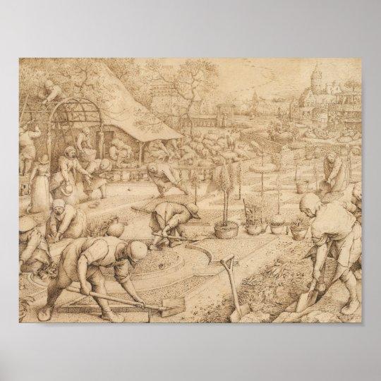 Pieter Bruegel the Elder - Spring Poster
