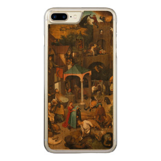 Pieter Bruegel the Elder - The Dutch Proverbs Carved iPhone 7 Plus Case