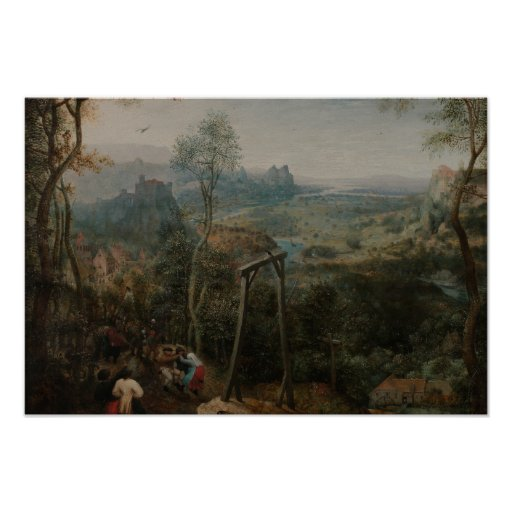 Pieter Bruegel the Elder-The Magpie on the Gallows Poster