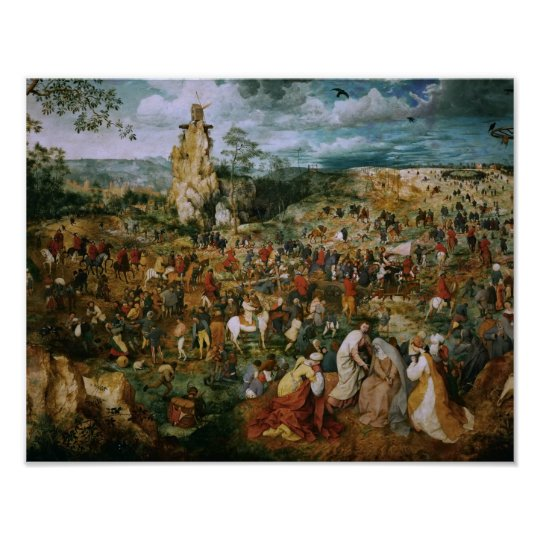 Pieter Bruegel the Elder-The Procession to Calvary Poster