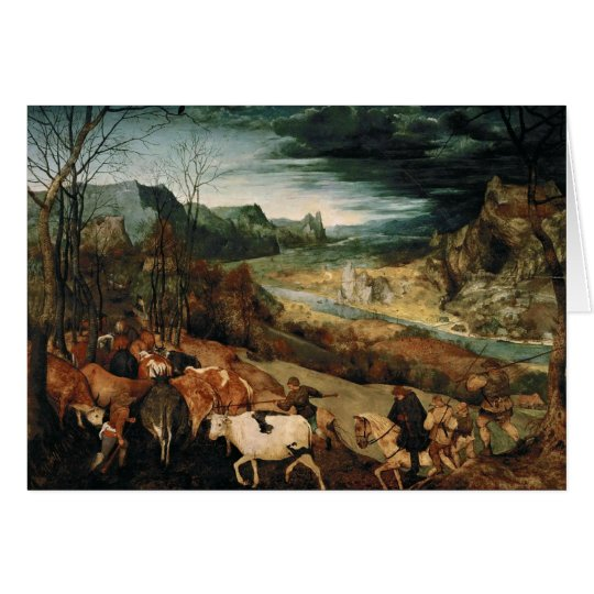 Pieter Bruegel the Elder - The Return of the Herd Card