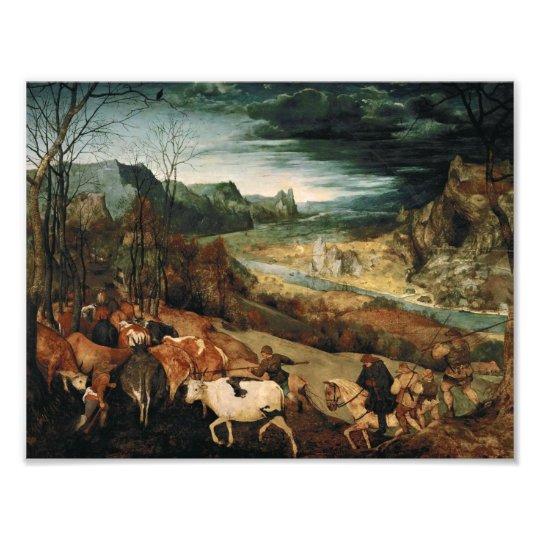 Pieter Bruegel the Elder - The Return of the Herd Photo Print