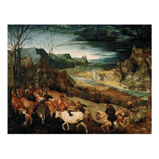 Pieter Bruegel the Elder - The Return of the Herd Postcard