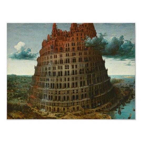 Pieter Bruegel the Elder - The Tower of Babel Photograph