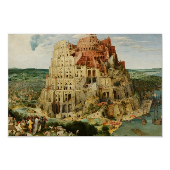 Pieter Bruegel the Elder - The Tower of Babel Poster