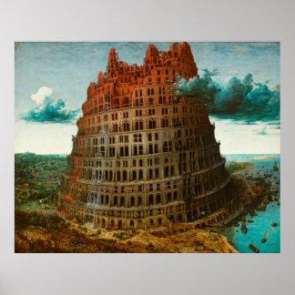 PIETER BRUEGEL - The little tower of Babel 1563 Poster