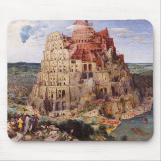 """Pieter Bruegel, """"The Tower of Babel"""", 1563 Mouse Pad"""