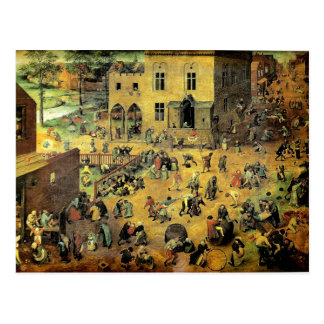 "Pieter Bruegel's ""Children's Games"" - 1560 Postcard"