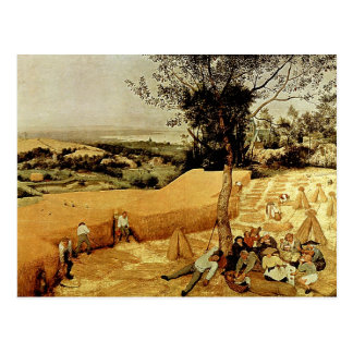 Pieter Bruegel's The Harvesters (1565) Postcard