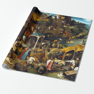 Pieter Brueghel Netherlandish Proverbs Wrapping Paper