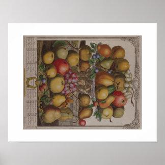 Pieter Casteels, Twelve Months of Fruit, December Poster