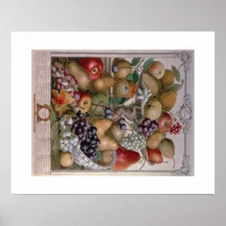 Pieter Casteels, Twelve Months of Fruits November Poster