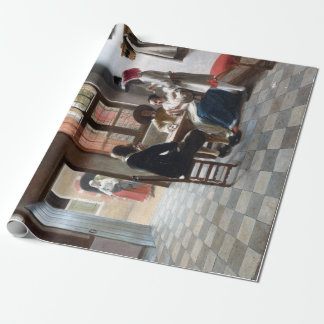 Pieter de Hooch Card Players in a Sunlit Room Wrapping Paper